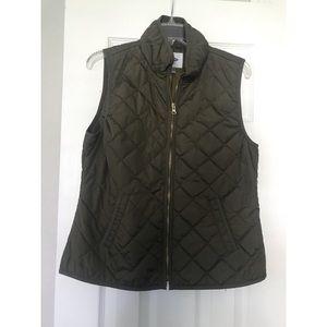 Olive Lightweight Women's Quilted Vest